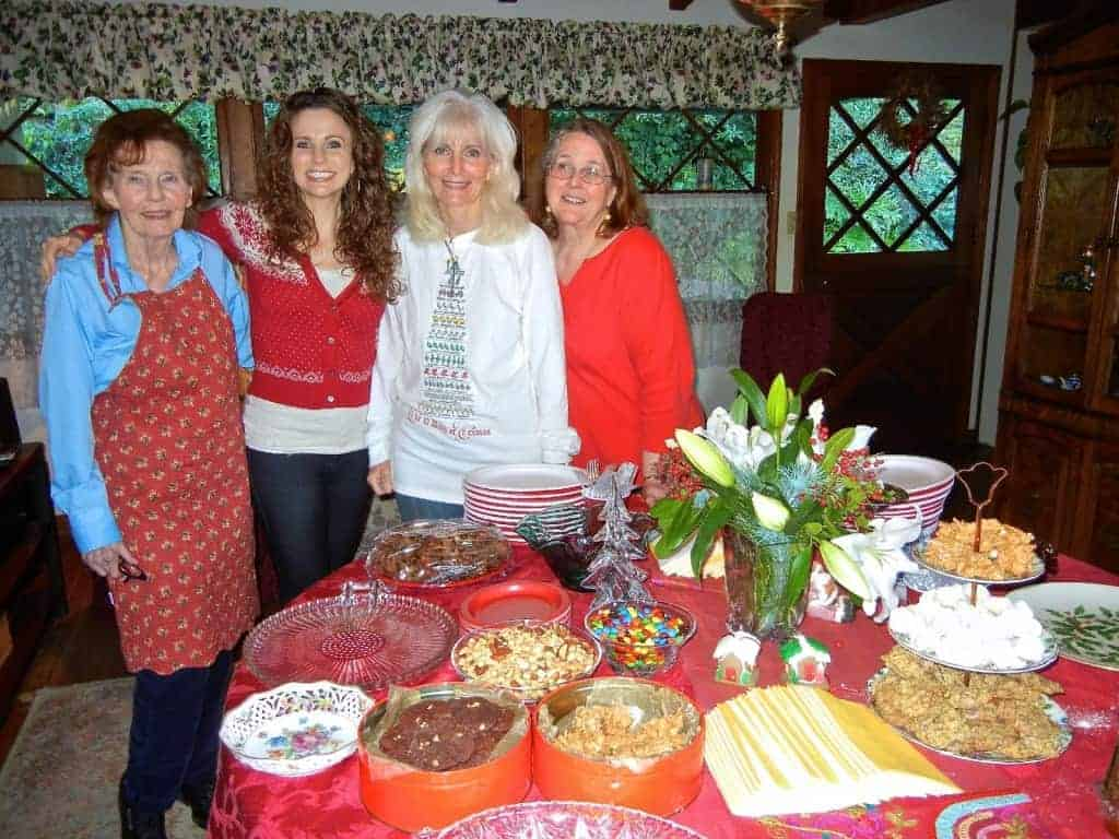 My grandma, me, my mom and my aunt, Mary – Christmas, 2011