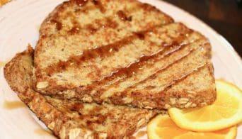 Vegan Cinnamon Orange French Toast
