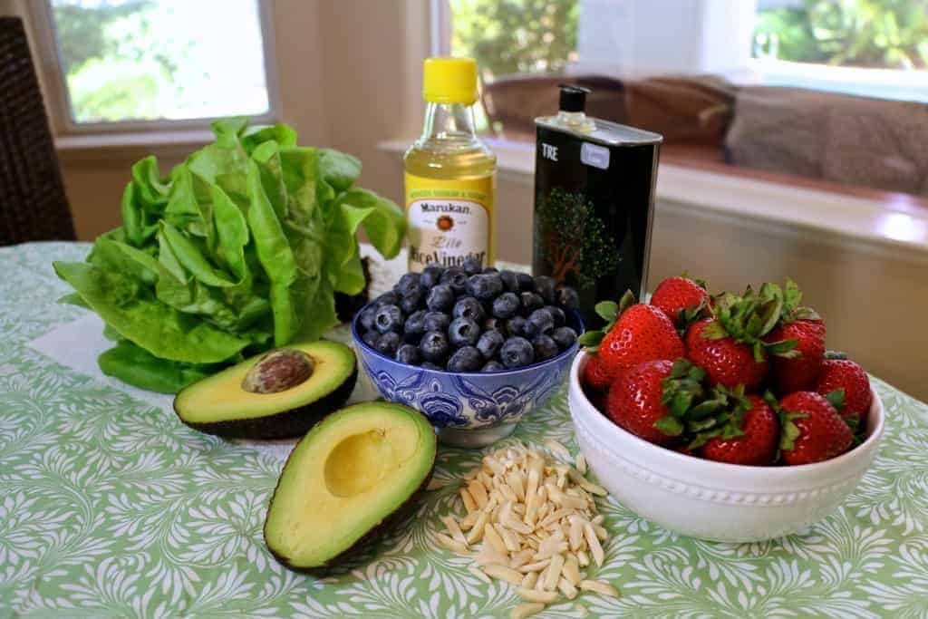 Ingredients for Super Vegan Summer Salad