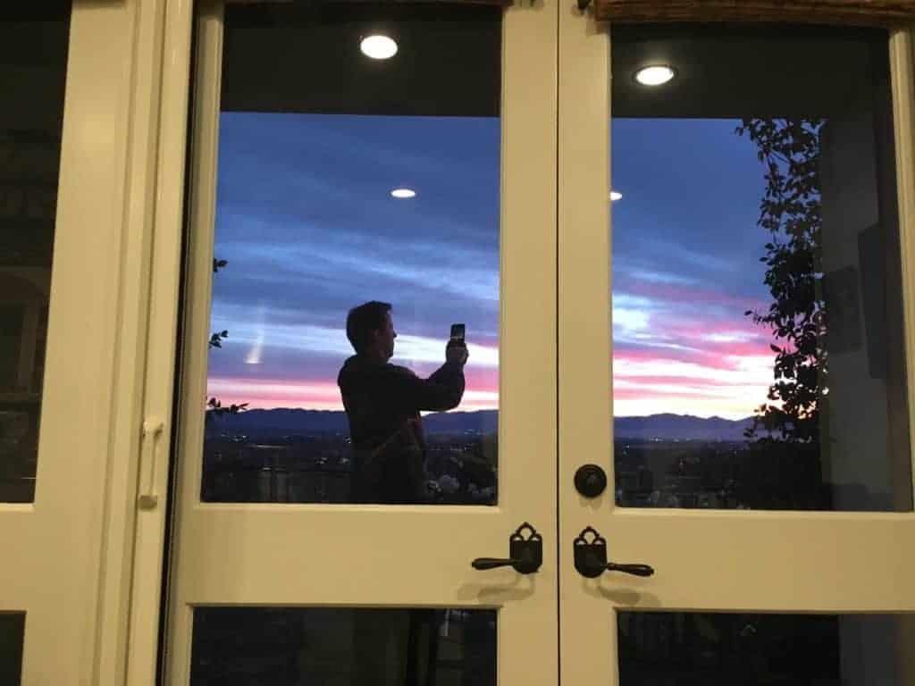 Jeff Dunham taking photo of sunrise