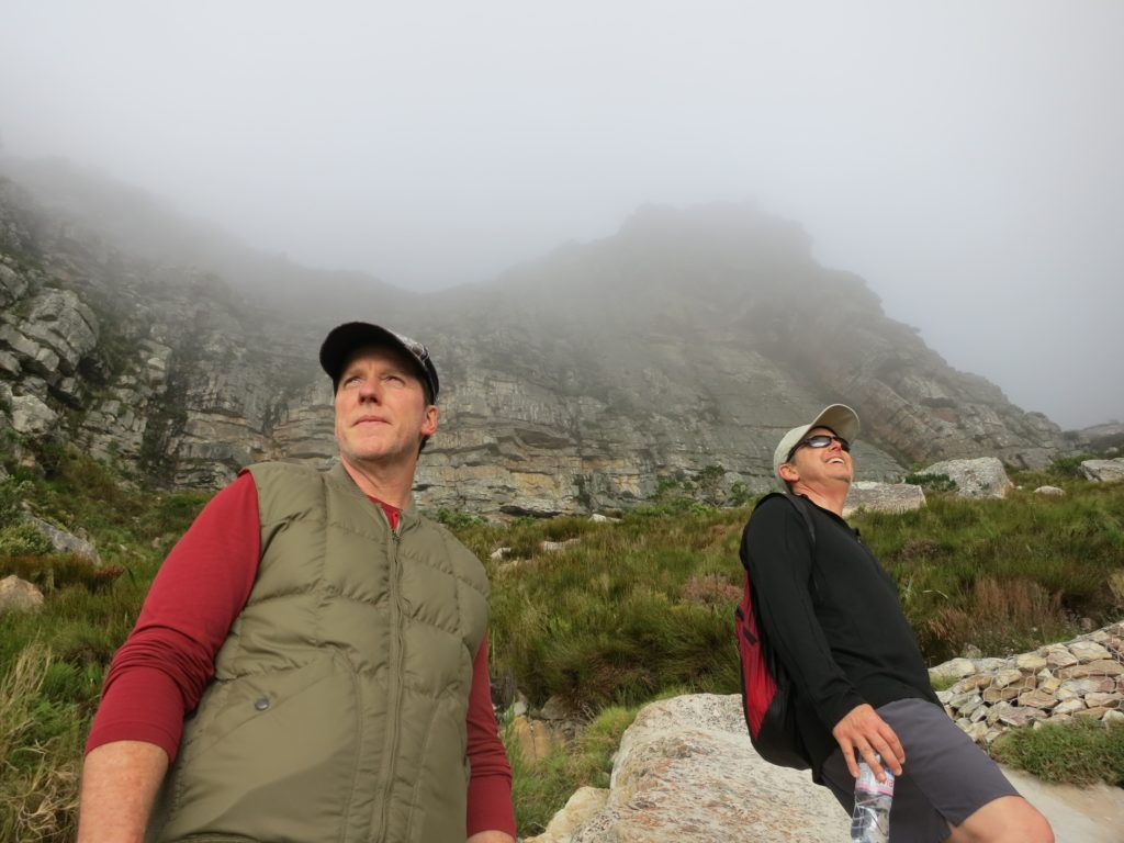This photo was taken while Jeff, his buddy and manager, Robert, and I hiked Table Mountain in South Africa; definitely one of the most physically and mentally challenging hikes I've ever endured!
