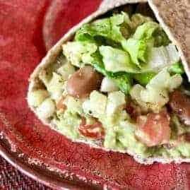 Vegan Cauliflower Rice and Bean Burrito
