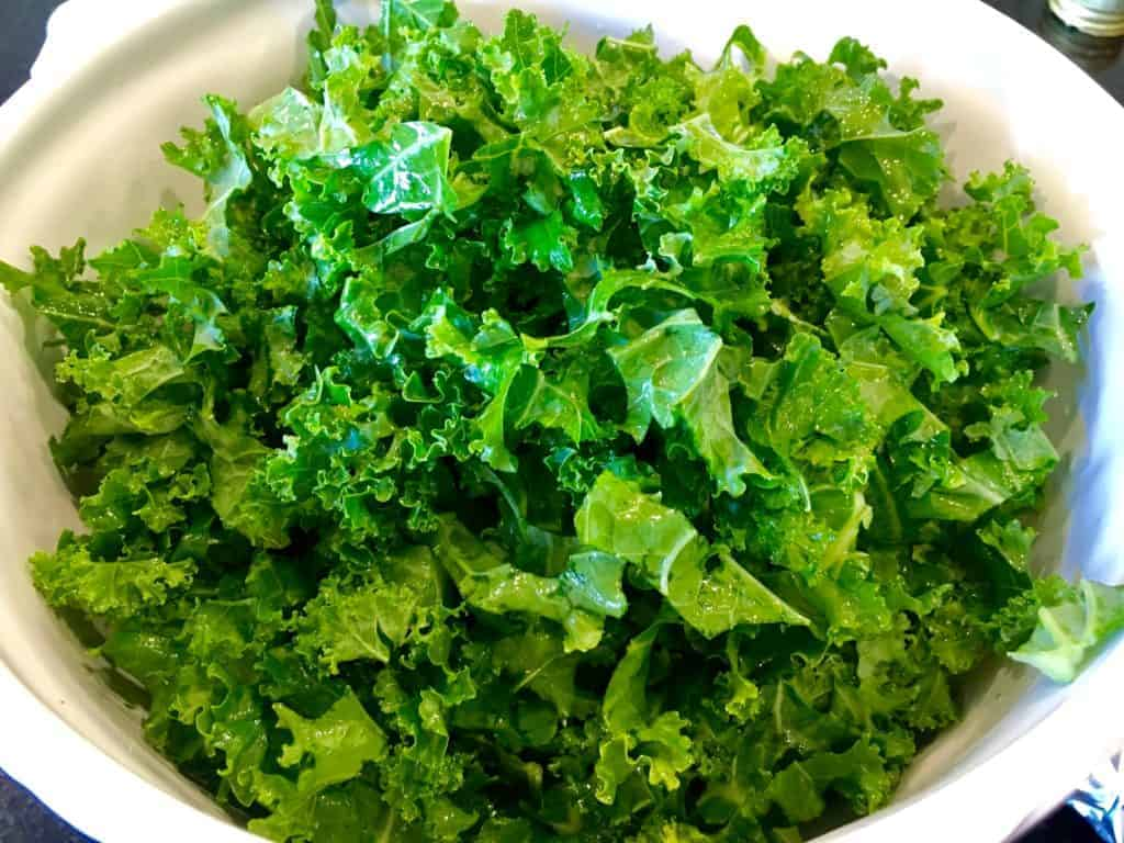 Kale in a bowl ready to eat or cook