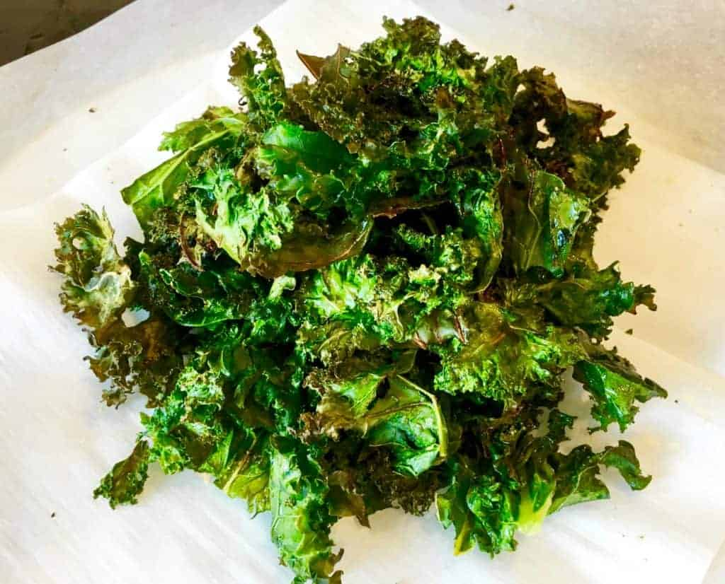 Pile of kale chips