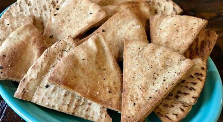 Salt and Pepper Pita Chips