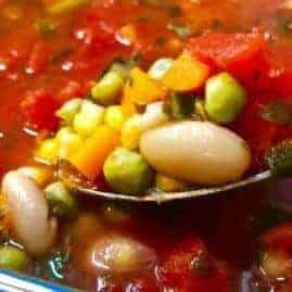 No Chop Chunky Vegetable Soup
