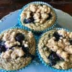 Vegan Lemon Blueberry Muffins (Gluten free, too!)