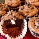 Vegan and Gluten Free Crème-Filled Chocolate Cupcakes with Double Chocolate Chip Frosting