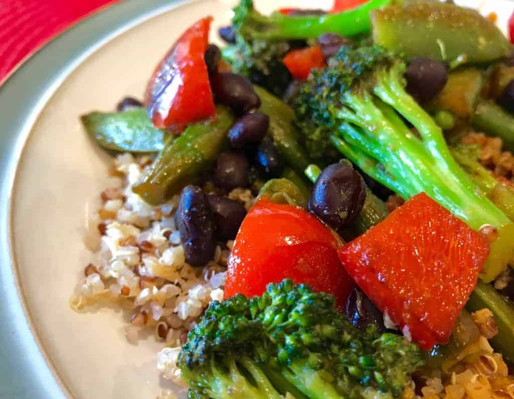 15-Minute Vegan Asian Stir Fry on a plate