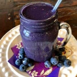 Vegan Purple Snack Shakes