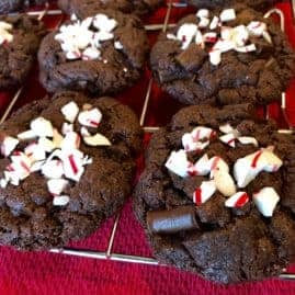 Vegan and Gluten Free Peppermint Chocolate Chunk Brownie Cookies