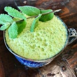 Vegan Mint Matcha Latte