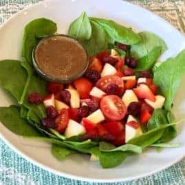 Salad with Oil-Free Balsamic Dressing