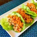5-Ingredient Peanut Chickpea Lettuce Wraps