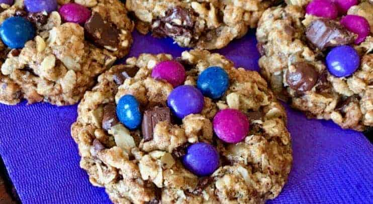 Vegan and Gluten-free Monster Cookies