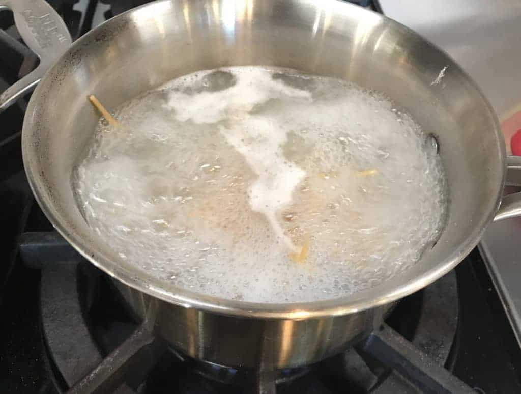 Pasta boiling on the stove