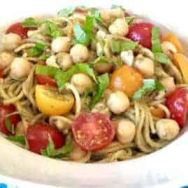 Chickpea Pesto Pasta