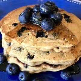 Vegan and Blueberry Pancakes