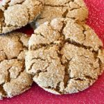 Soft and Chewy Vegan Ginger Snaps (Gluten Free option!)