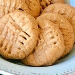 4-Ingredient Soft Vegan Peanut Butter Cookies (Gluten Free, too!)
