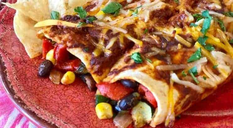 Easy Black Bean Veggie Enchiladas