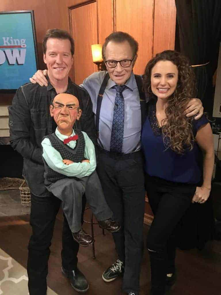 Audrey Dunham Jeff Dunham on Larry King Now