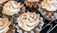 Cupcakes with vegan maple buttercream