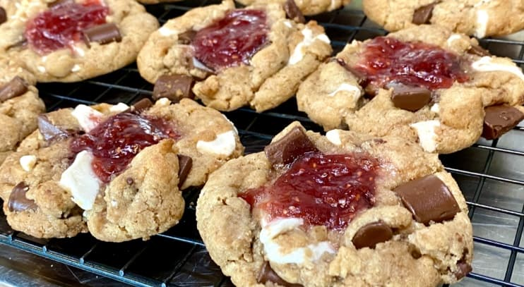 Raspberry White Chocolate Chunk Cookies (Vegan and Gluten Free)