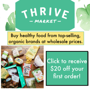 Click to receive $20 off your first order from Thrive Market.